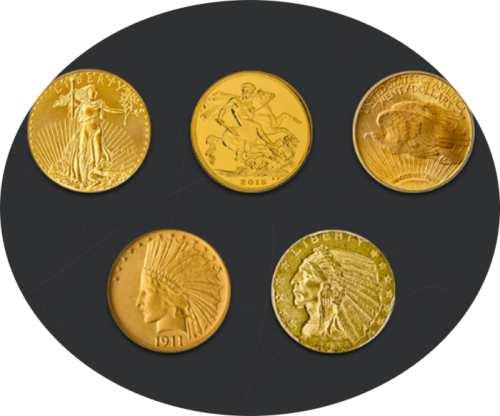 Gold Coins - 5 coins