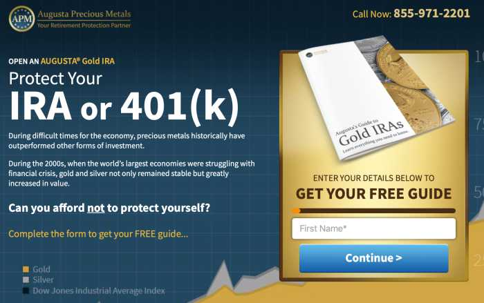 Augusta Precious Metals home page