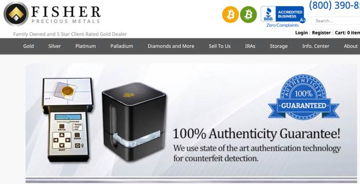 Fisher Precious Metal Home Page